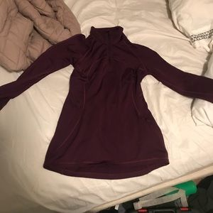 Plum purple quarter zip